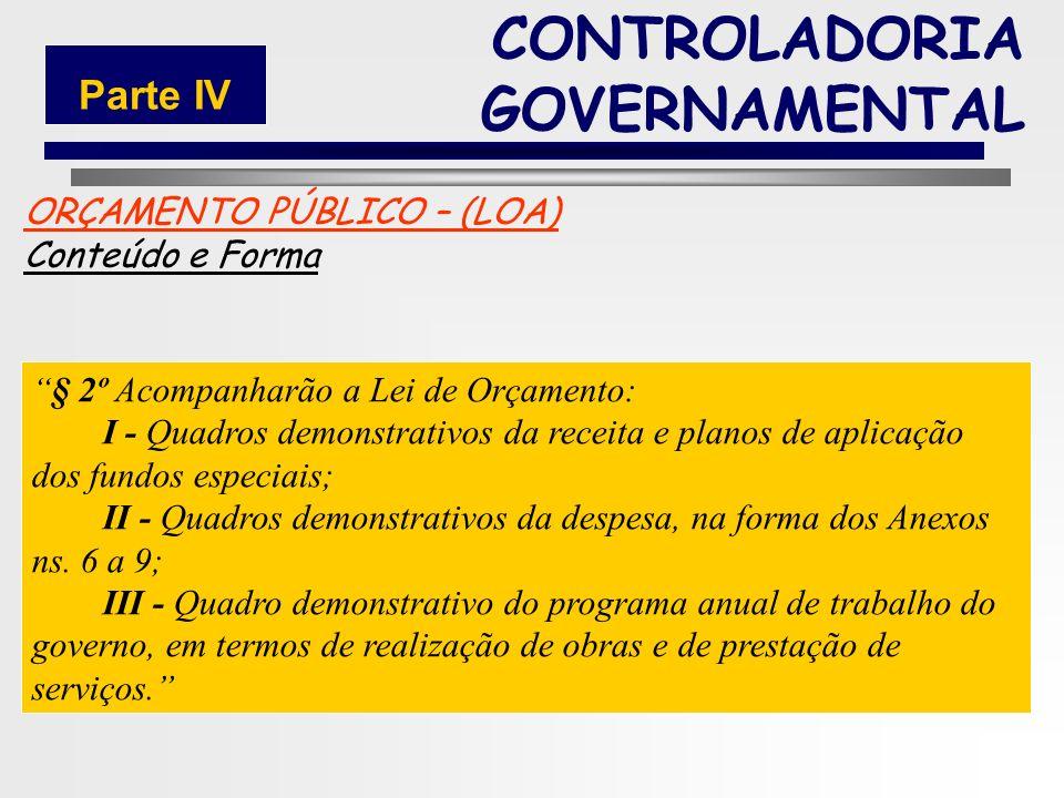 190 ORÇAMENTO PÚBLICO – (LOA) Conteúdo e Forma § 1° Integrarão a Lei de Orçamento: I - Sumário geral da receita por fontes e da despesa por funções do