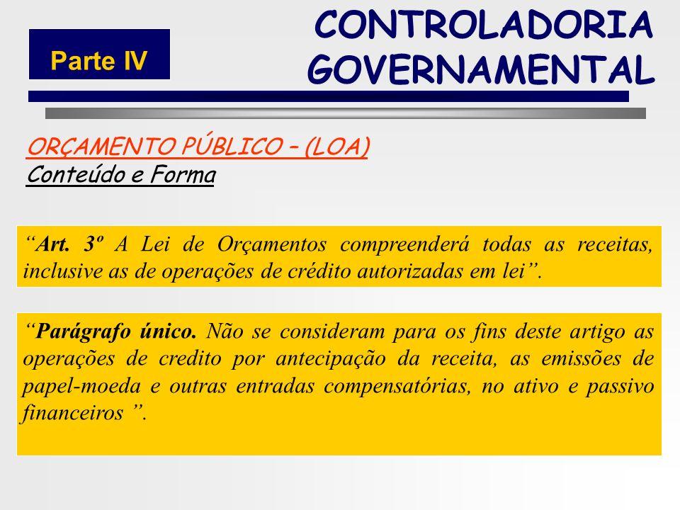 191 ORÇAMENTO PÚBLICO – (LOA) Conteúdo e Forma § 2º Acompanharão a Lei de Orçamento: I - Quadros demonstrativos da receita e planos de aplicação dos f