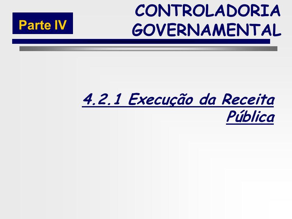 214 4.2 Execução CONTROLADORIA GOVERNAMENTAL Parte IV