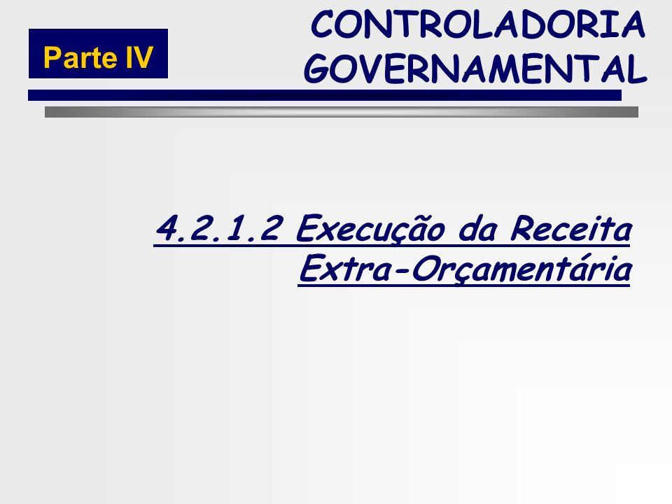 217 Fases da Execução da Receita Orçamentária CONTROLADORIA GOVERNAMENTAL Parte IV