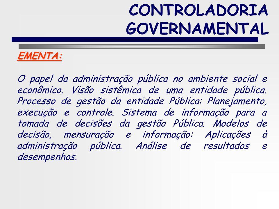 2 CONTROLADORIA GOVERNAMENTAL PROGRAMA DA DISCIPLINA