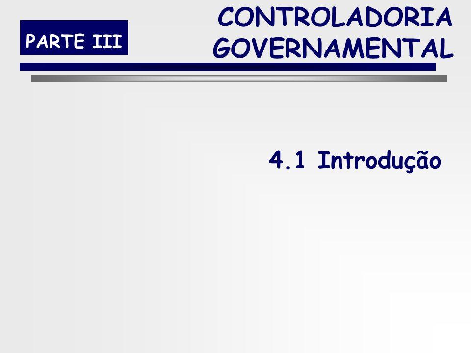 39 PARTE III 4. O PAPEL DA CONTROLADORIA NA GESTÃO PÚBLICA CONTROLADORIA GOVERNAMENTAL
