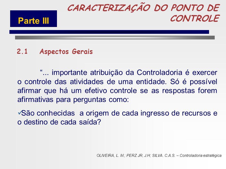 70 CARACTERIZAÇÃO DO PONTO DE CONTROLE 2.1 Aspectos Gerais 2.2 Constituição Federal 2.3 Lei 4.320/64 2.4 Lei de Responsabilidade Fiscal Parte III