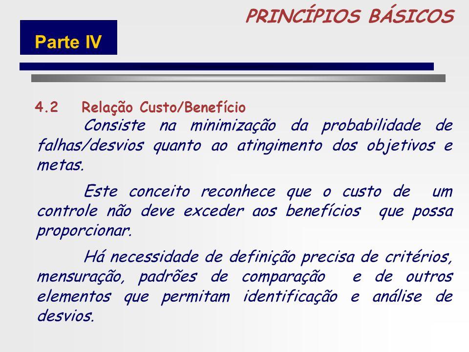 87 PRINCÍPIOS BÁSICOS 4.1Independência Constitui Controles Internos o conjunto de atividades, planos, métodos e procedimentos interligados utilizado c