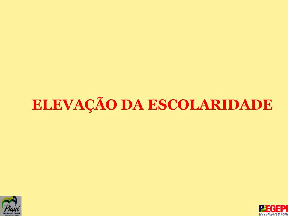 ELEVAÇÃO DA ESCOLARIDADE