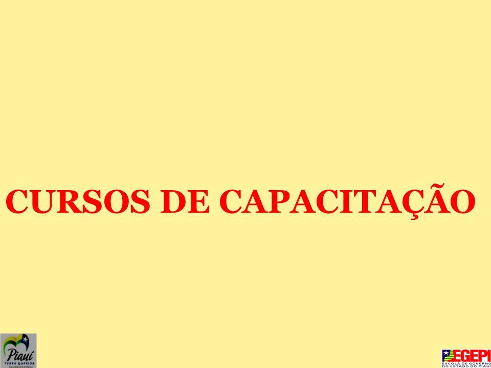 CURSOS DE CAPACITAÇÃO