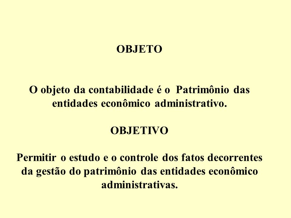 Conceitos Contabilidade é a ciência que permite, através de suas técnicas, manter um controle permanente do Patrimônio da empresa Osni Moura Ribeiro A
