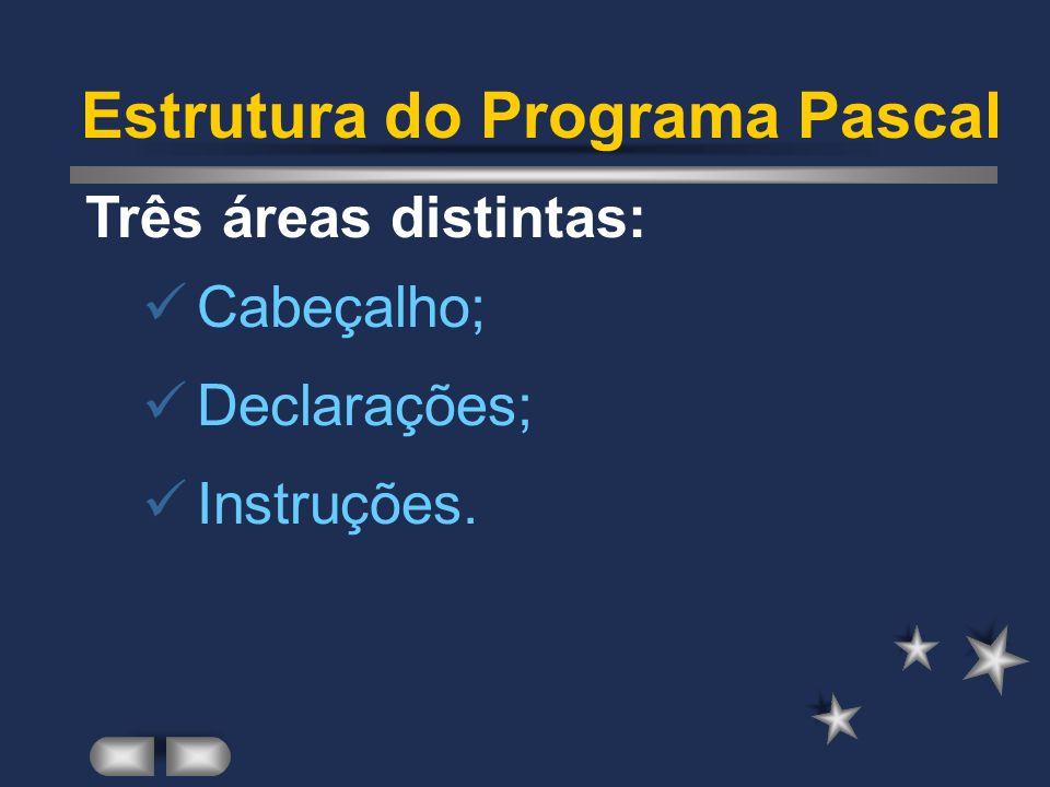 Características da Linguagem Reusabilidade: fornece condições para a construção de bibliotecas de programas;