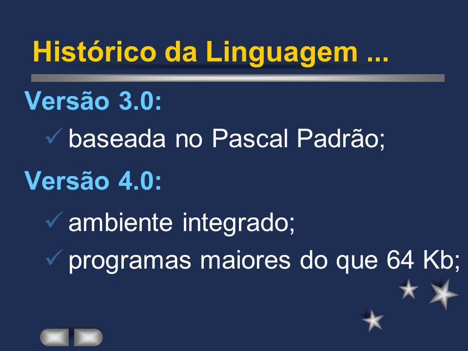 Criada na década de 70, Suiça; Homenagem a Blaise Pascal; Baseado em ALGOL e PLI; Popularização na década de 80; Borland lança Turbo Pascal. A Linguag