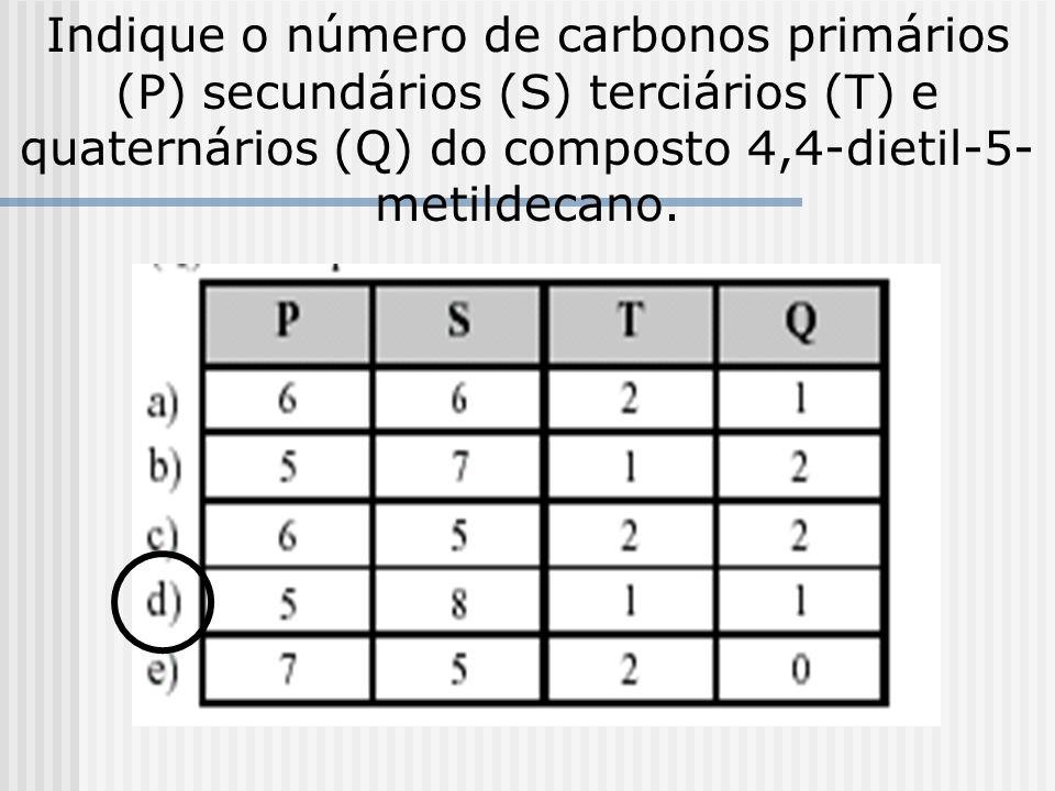 A combustão completa de 1 mol de 2, 2, 3- trimetileptano produz uma quantidade em mol de H 2 O igual a: a)1 b) 7 c) 8 d) 11 e) 20 Combustão de HCs e á
