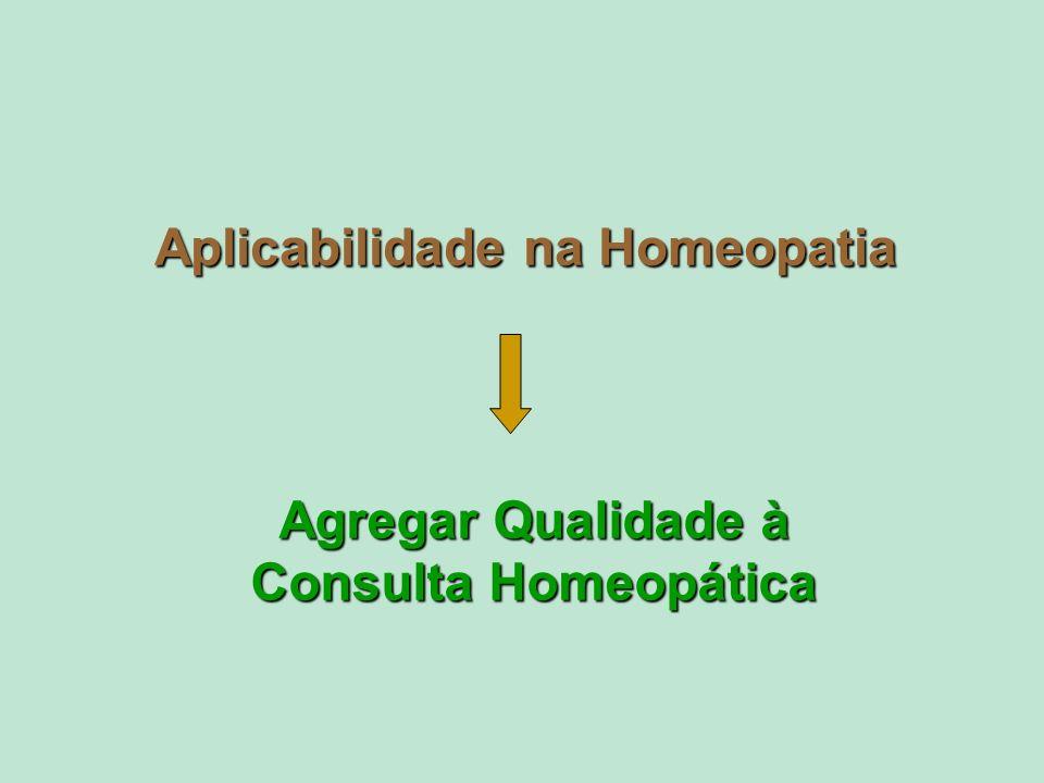 Aplicabilidade na Homeopatia Agregar Qualidade à Consulta Homeopática