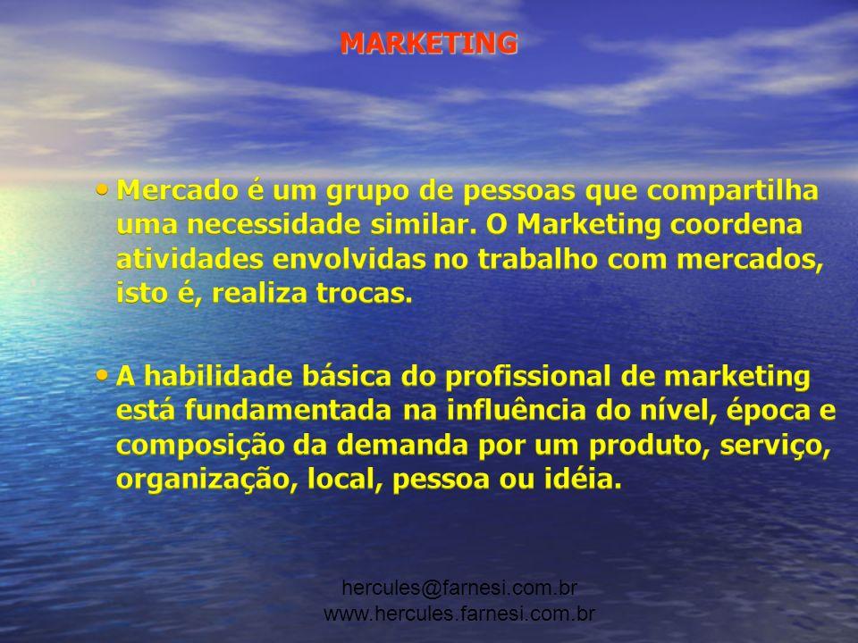 hercules@farnesi.com.br www.hercules.farnesi.com.br MARKETING SEGMENTO A2 (representam cerca de 2%) Os membros desta classe são pessoas que recebem altas rendas ou riquezas decorrentes da excepcional habilidade profissional ou para negócios.