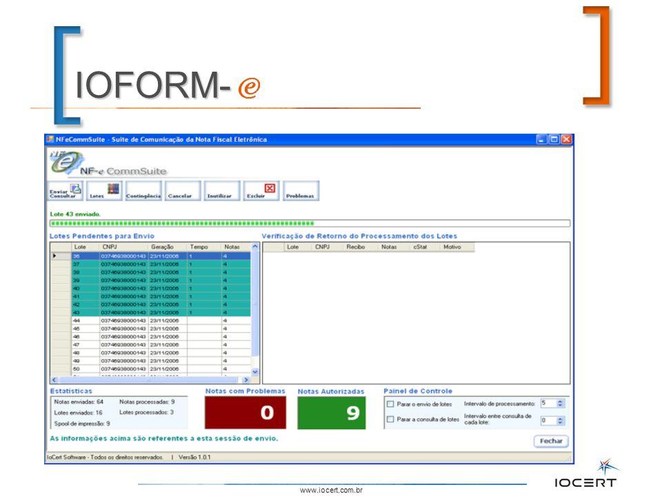 www.iocert.com.br IOFORM-