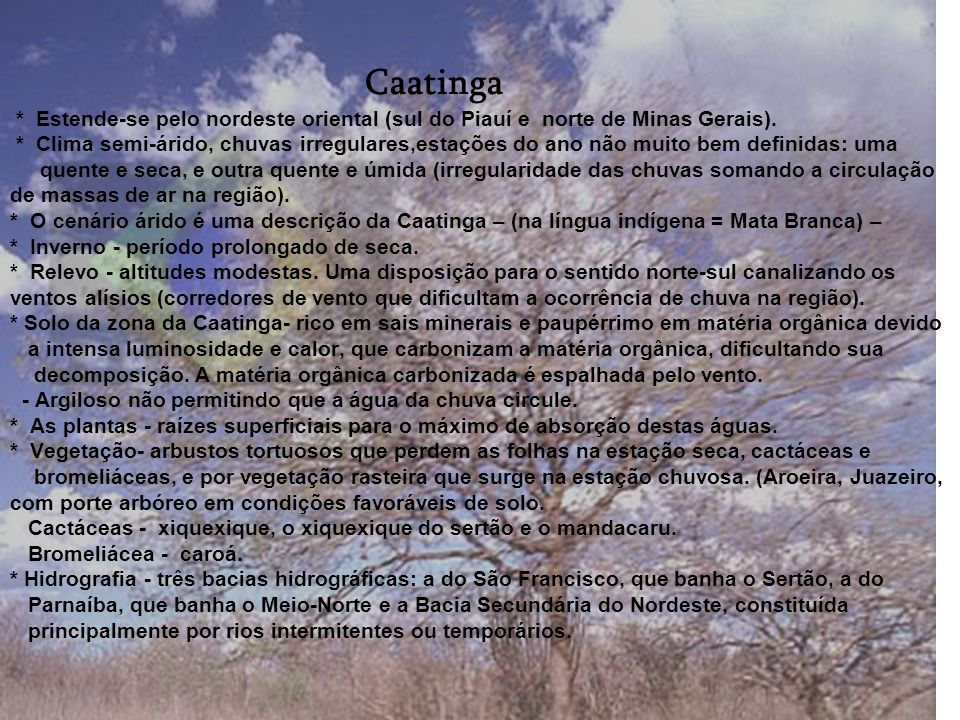 DEGRADAÇÃO * O Cerrado foi ocupado durante décadas para pecuária extensiva. * A partir da década de 70 iniciou-se no Brasil a ocupação efetiva do Cerr