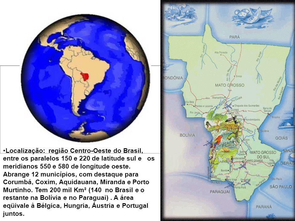 P ANTANAL Pantanal é uma das maiores biodiversidades do planeta * Reúne diversos ecossistemas e tem catalogado 80 espécies de mamíferos, 50 de répteis