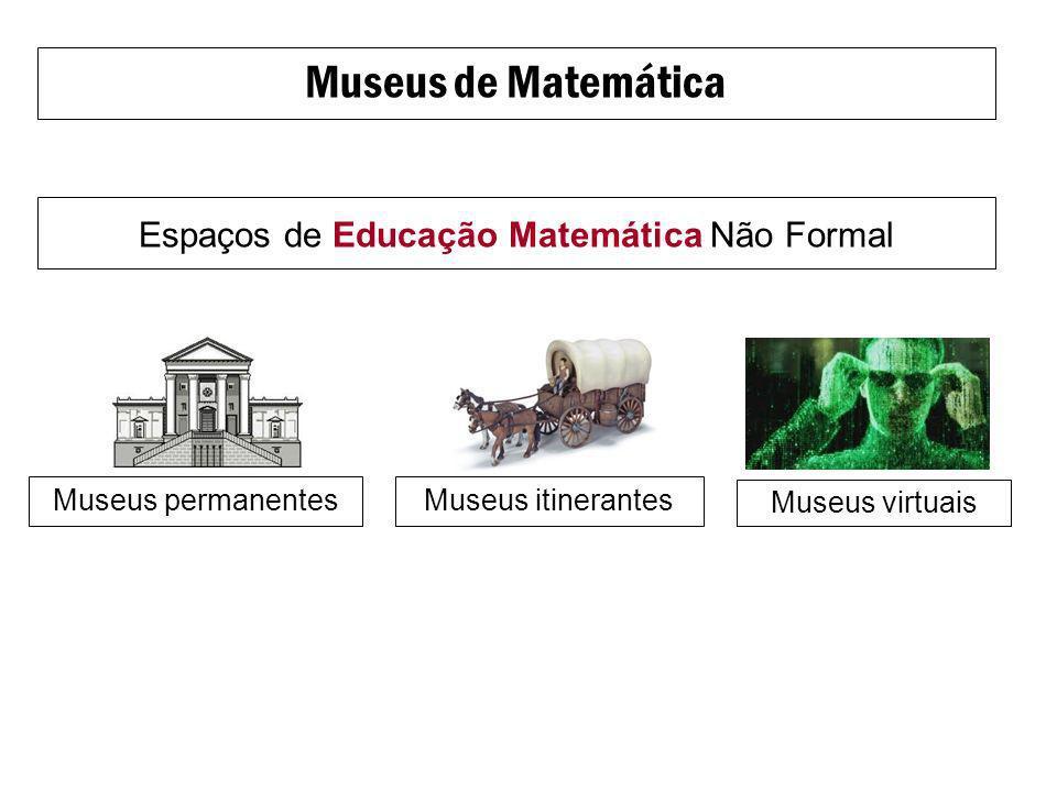Museus de Matemática Espaços de Educação Matemática Não Formal Museus itinerantesMuseus permanentes Museus virtuais