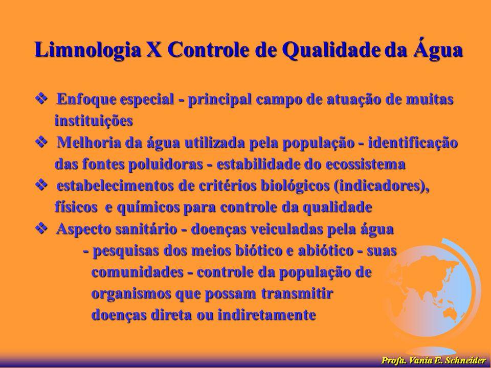 Limnologia X Utilização Racional dos Recursos Hídricos planos e critérios para utilização racional dos planos e critérios para utilização racional dos