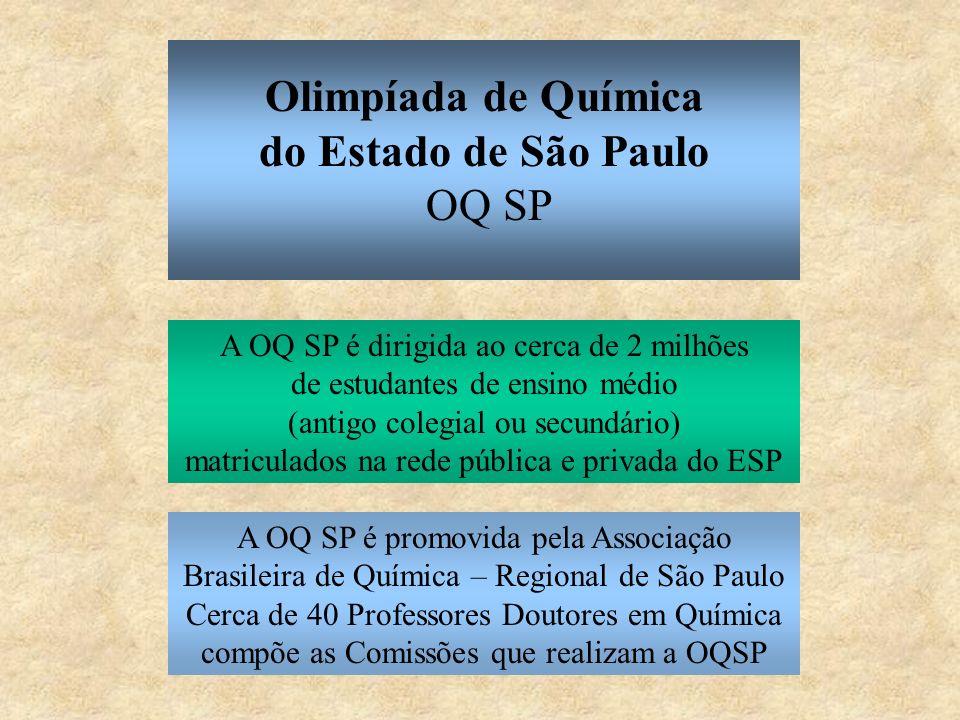 Resultados da OBQ são divulgados Delegação brasileira participa da Olimpíada Ibero-americana de Química Medalhas e Diplomas de honra ao mérito são distribuídos na sessão de premiação e encerramento da OBQ (via de regra, em Fortaleza, CE) Ano X novembro outubro setembro outubro Olimpíada Brasileira de Química