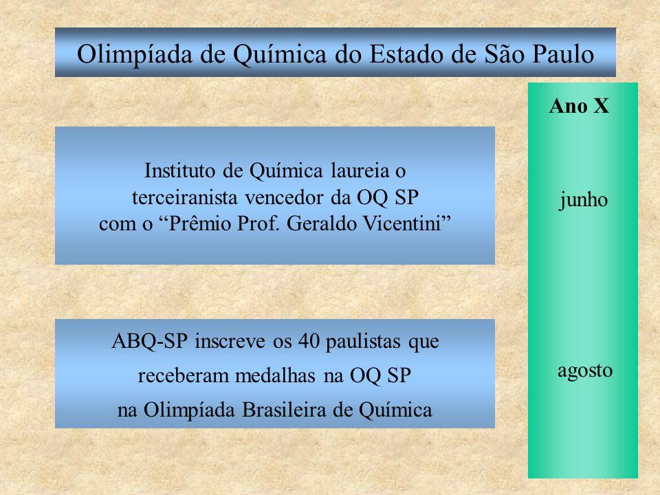 Olimpíada de Química do Estado de São Paulo Divulgação, resultados, redações: http://allchemy.iq.usp.br