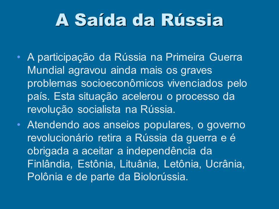 1917 - O ANO CRÍTICO Saída da Rússia ( Tratado de BREST – LITOVSKY)Saída da Rússia ( Tratado de BREST – LITOVSKY) Entrada dos EUAEntrada dos EUA Pausa