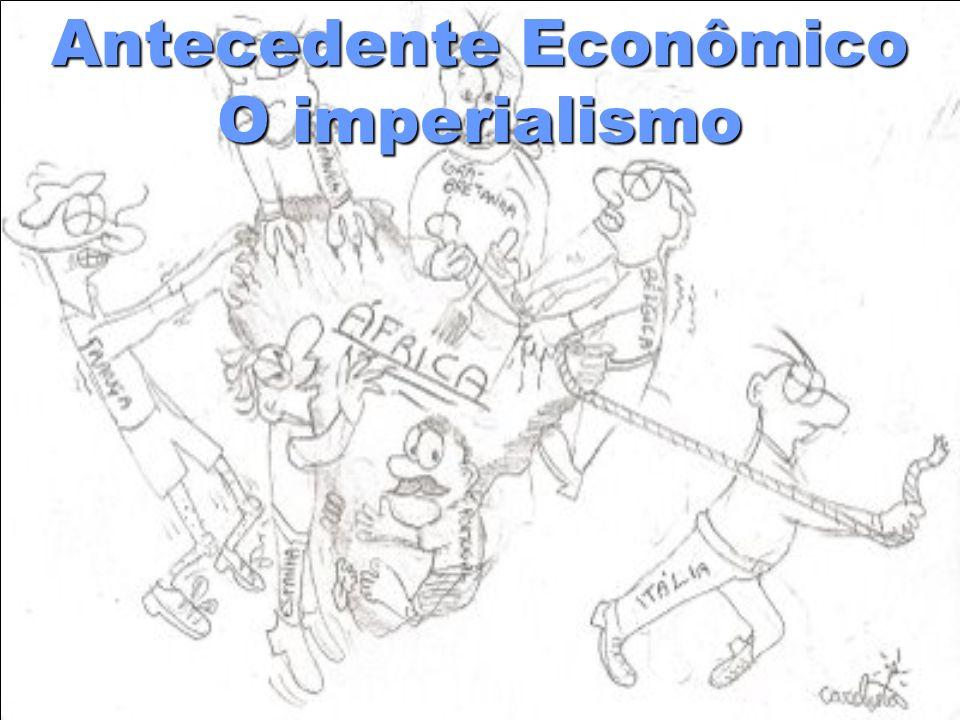 A disputa imperialista A produção industrial alemã começava a superar a produção inglesa.