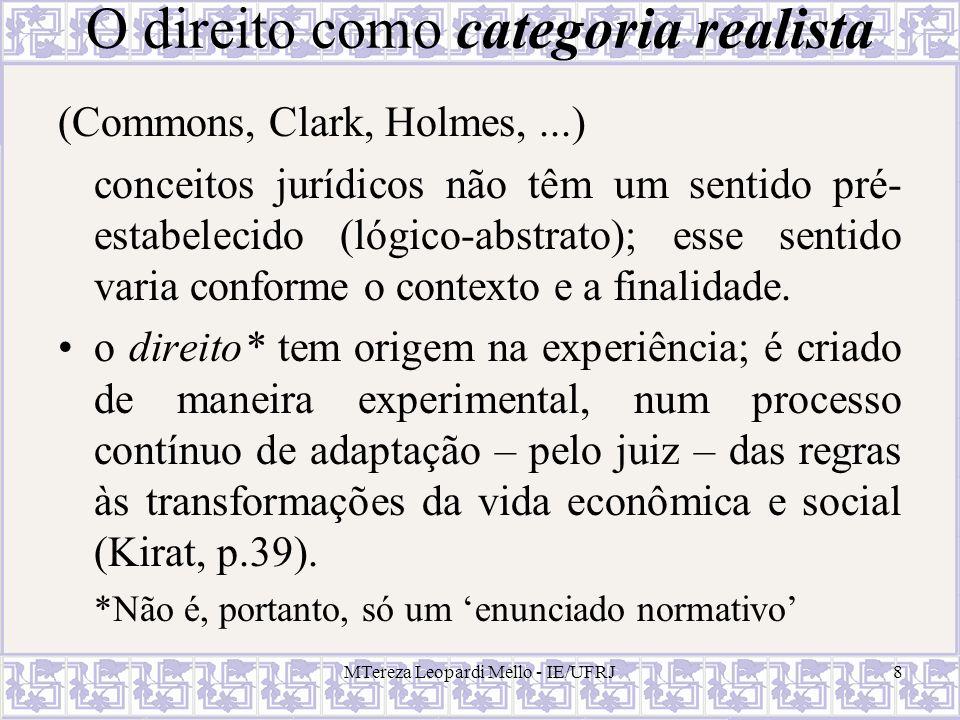 MTereza Leopardi Mello - IE/UFRJ19 Teorema de Coase - interpretações possíveis (Kirat, p.