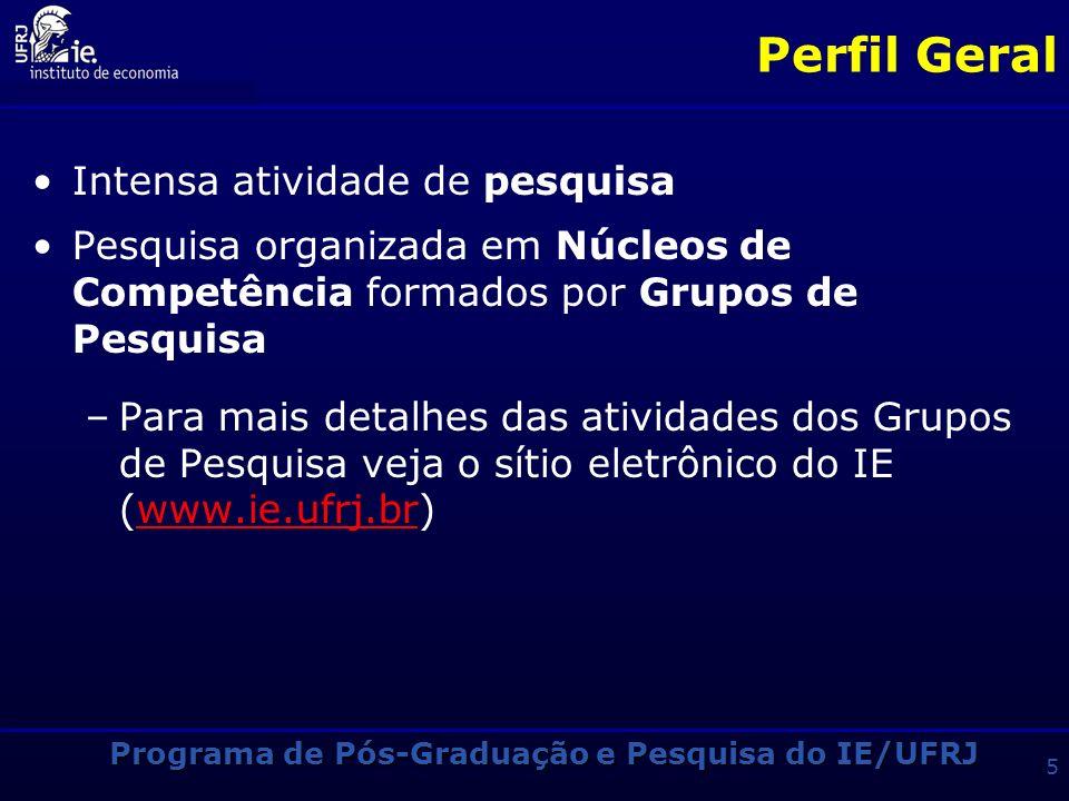 Programa de Pós-Graduação e Pesquisa do IE/UFRJ 35