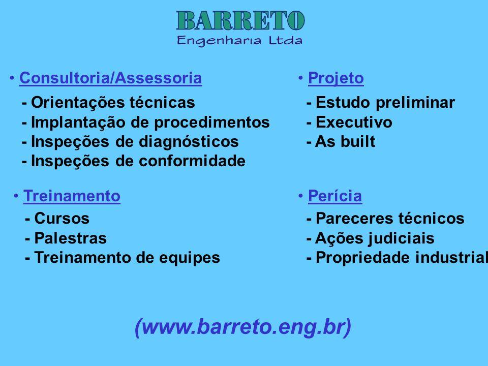 Consultoria/Assessoria Treinamento Projeto Perícia - Orientações técnicas - Implantação de procedimentos - Inspeções de diagnósticos - Inspeções de co