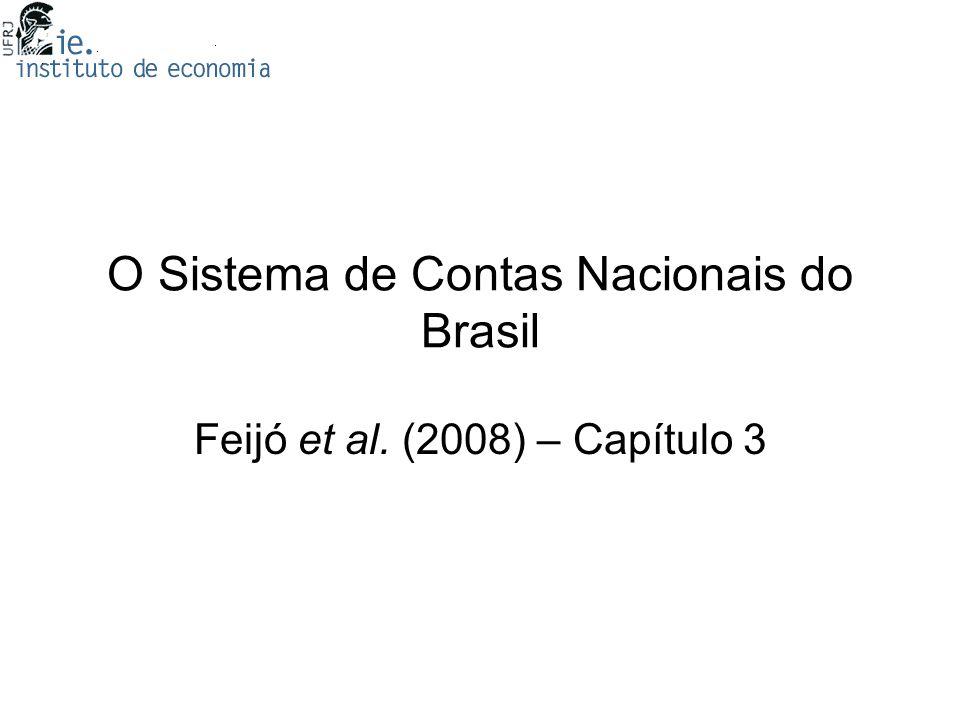 O Sistema de Contas Nacionais do Brasil Feijó et al. (2008) – Capítulo 3