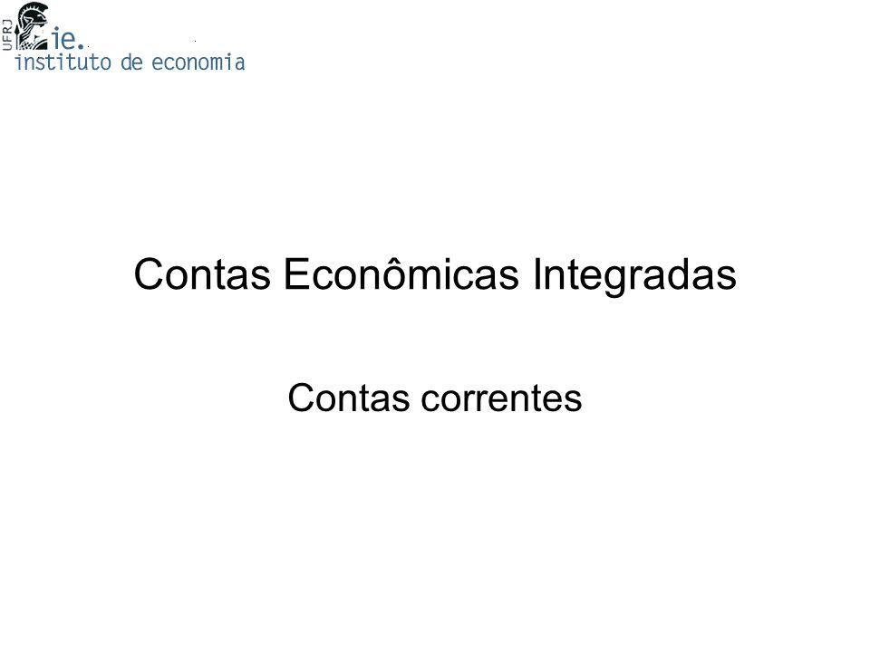 Contas Econômicas Integradas Contas correntes