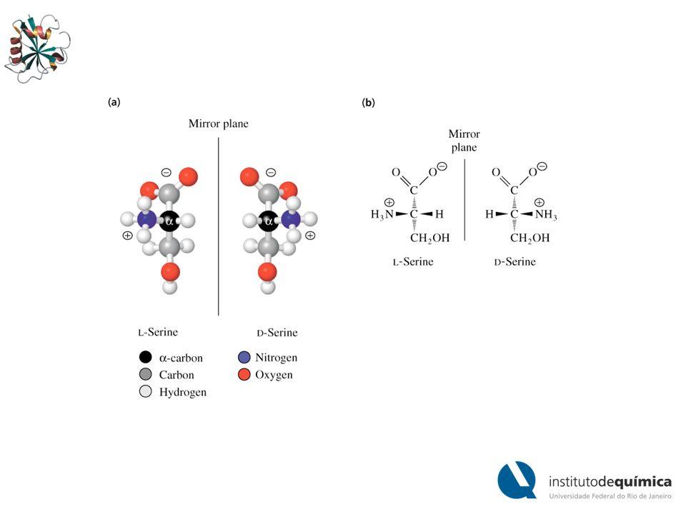 A convenção de Fischer não consegui nomear adequadamente compostos com mais de um centro quiral A treonina é um dos dois aminoácidos que possuem dois centros quirais.