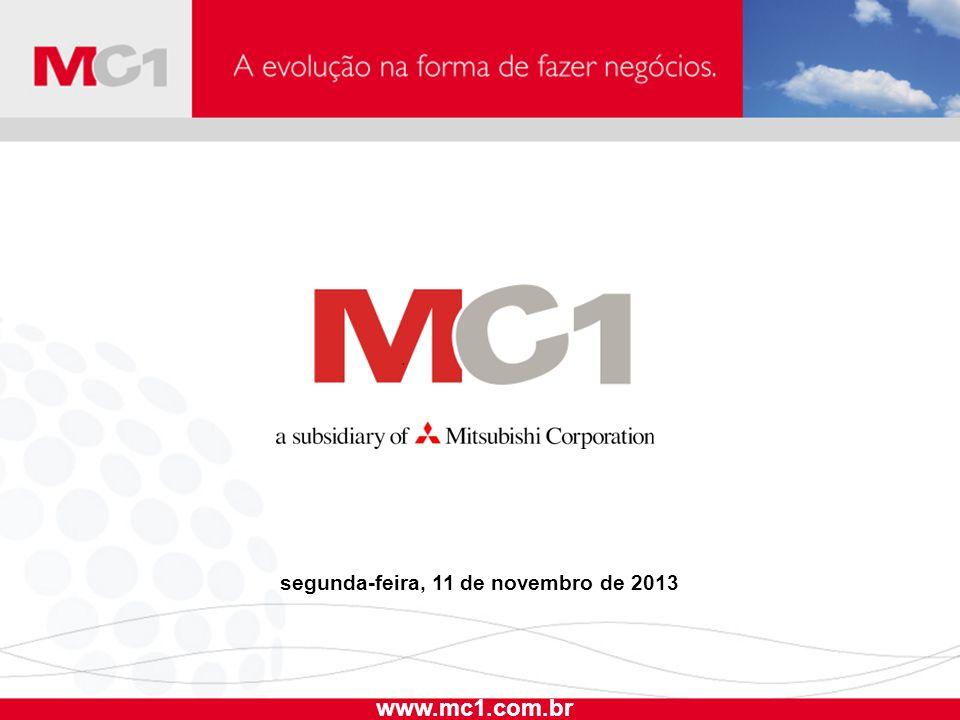 segunda-feira, 11 de novembro de 2013 www.mc1.com.br