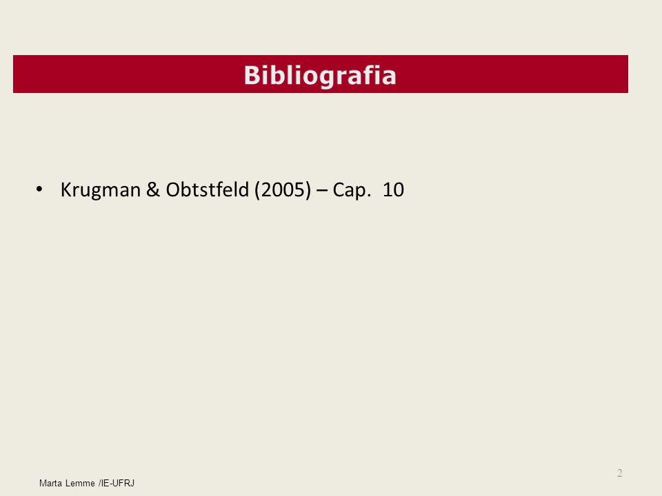 2 Marta Lemme /IE-UFRJ Krugman & Obtstfeld (2005) – Cap. 10