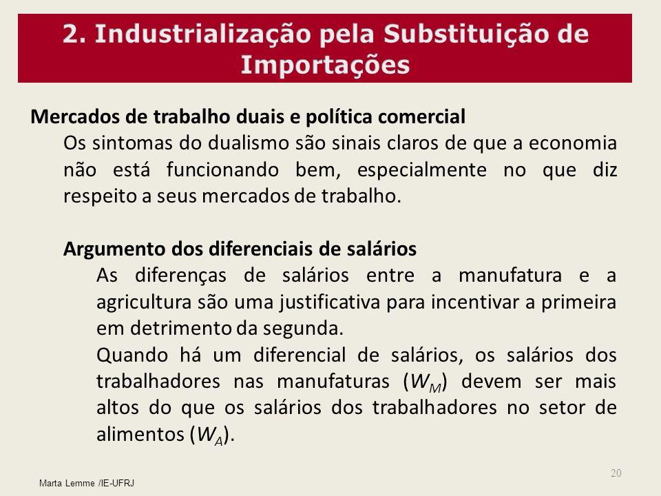 20 Mercados de trabalho duais e política comercial Os sintomas do dualismo são sinais claros de que a economia não está funcionando bem, especialmente