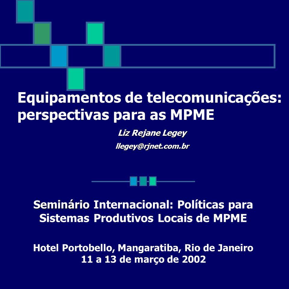 Seminário Seminário Internacional: Políticas para Sistemas Produtivos Locais de MPME Hotel Portobello, Mangaratiba, Rio de Janeiro 11 a 13 de março de