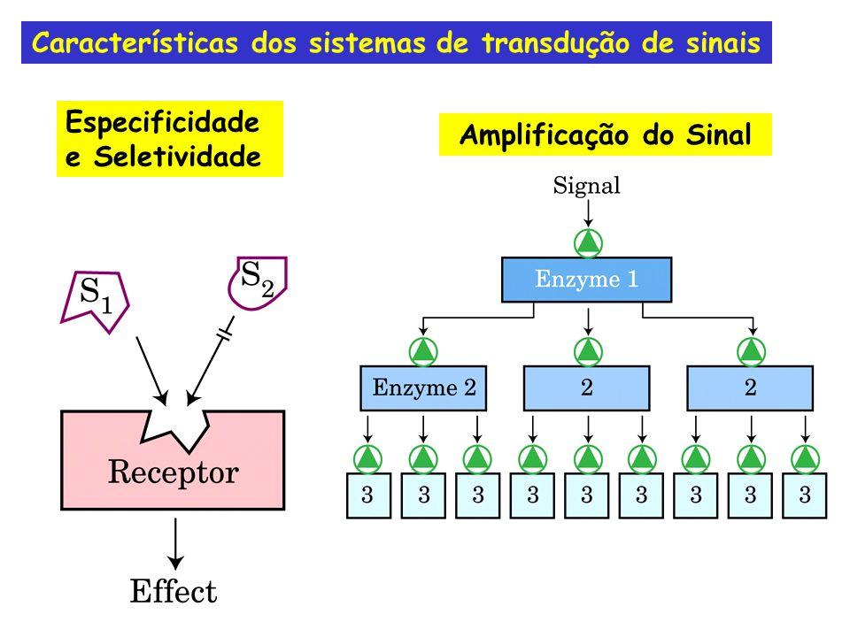Dessensibilização/AdaptaçãoIntegração Características dos sistemas de transdução de sinais