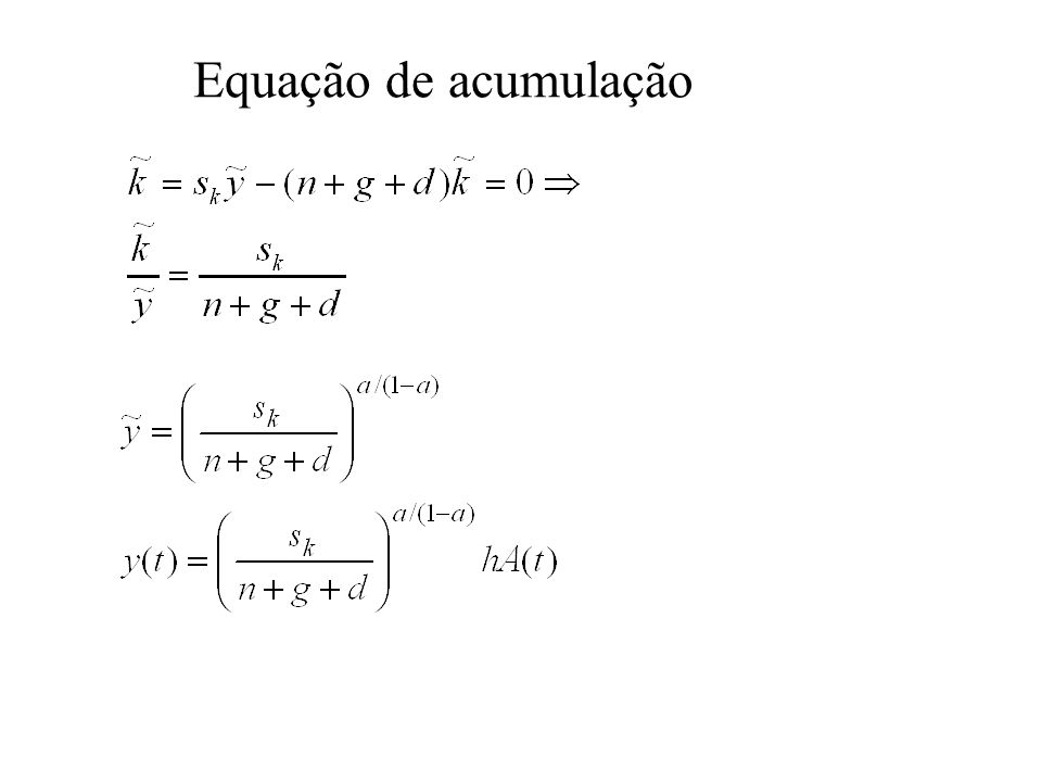 Introdução da Variável de Capital Humano u = tempo de estudo, =constante Dividindo (1) por L, obtém-se: Sendo h constante, a taxa de crescimento de y