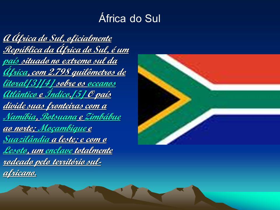 A África do Sul, oficialmente República da África do Sul, é um país situado no extremo sul da África, com 2.798 quilômetros de litoral[3][4] sobre os