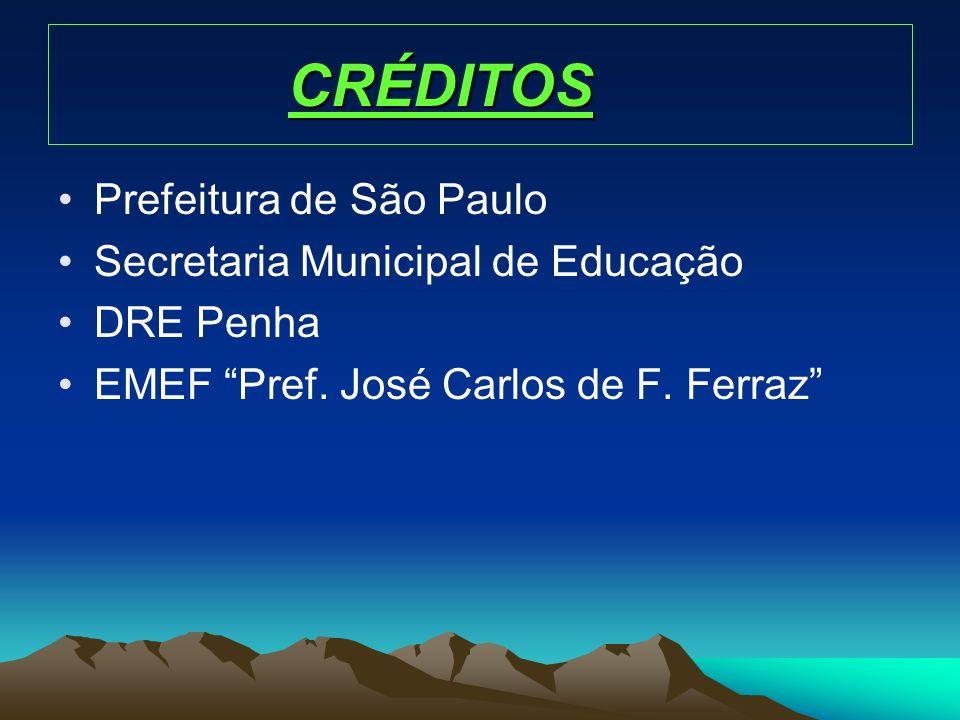 CRÉDITOS Prefeitura de São Paulo Secretaria Municipal de Educação DRE Penha EMEF Pref. José Carlos de F. Ferraz