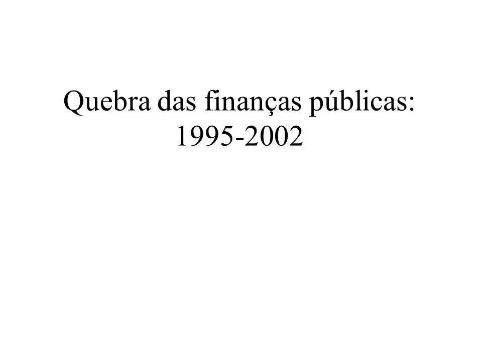 Quebra das finanças públicas: 1995-2002