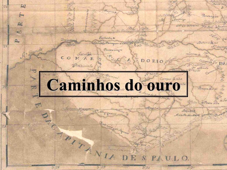 Reservas auríferas atuais http://www.gismaps.com.br/recnatur/recnatur.htm Área aproximada de exploração no século XVIII