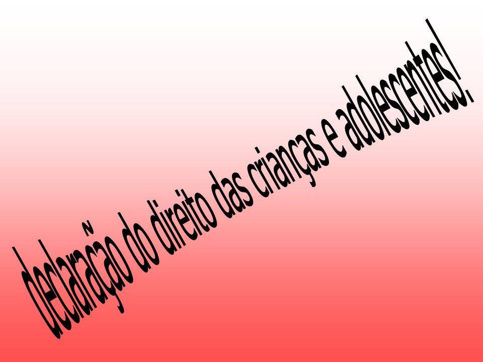 1º Princípio – Todas as crianças são credoras destes direitos, sem distinção de raça, cor, sexo, língua, religião, condição social ou nacionalidade, quer sua ou de sua família.