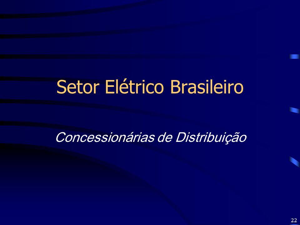 22 Setor Elétrico Brasileiro Concessionárias de Distribuição