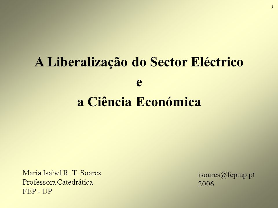 Maria Isabel R. T. Soares, 2006 Environmental Policy Framework: Electricity generation 42