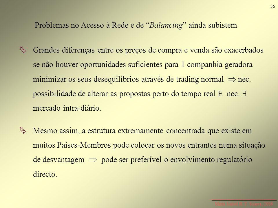 Maria Isabel R. T. Soares, 2006 Grandes diferenças entre os preços de compra e venda são exacerbados se não houver oportunidades suficientes para 1 co