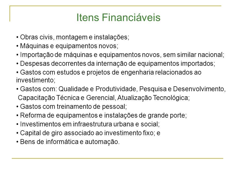 Valores em R$ mil Segmento Capacidade Instalada N º de Projetos Financiamento BNDES Investimento Previsto 1.