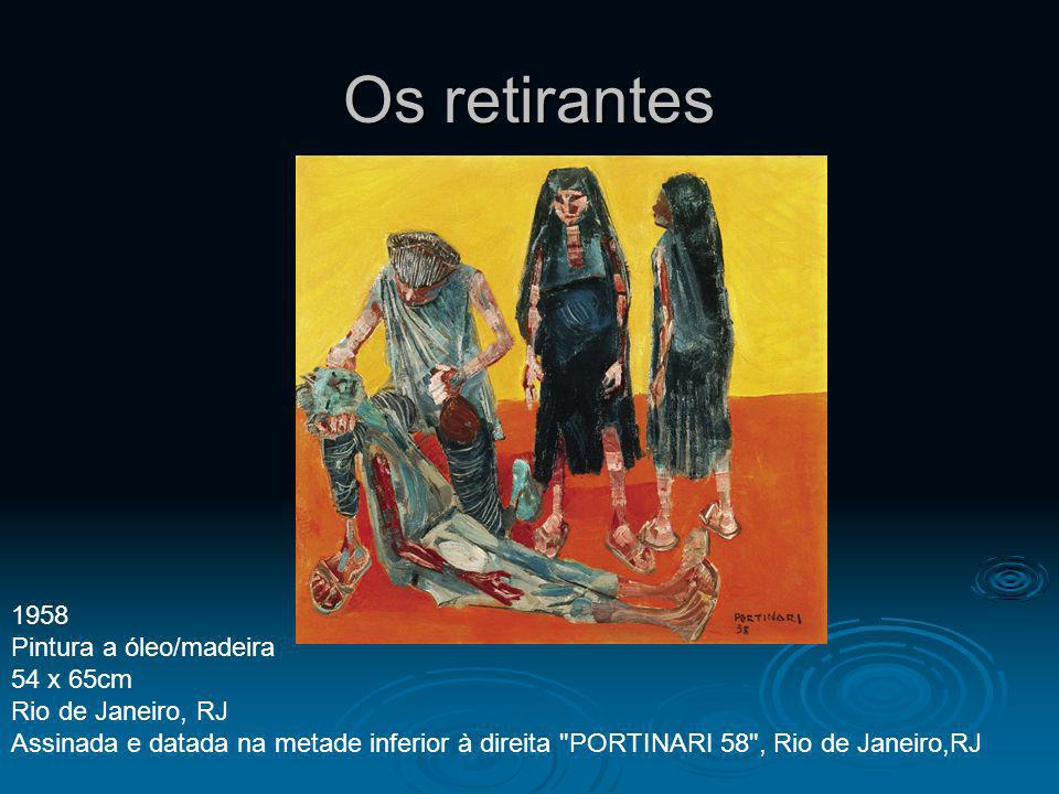 Os retirantes 1958 Pintura a óleo/madeira 54 x 65cm Rio de Janeiro, RJ Assinada e datada na metade inferior à direita