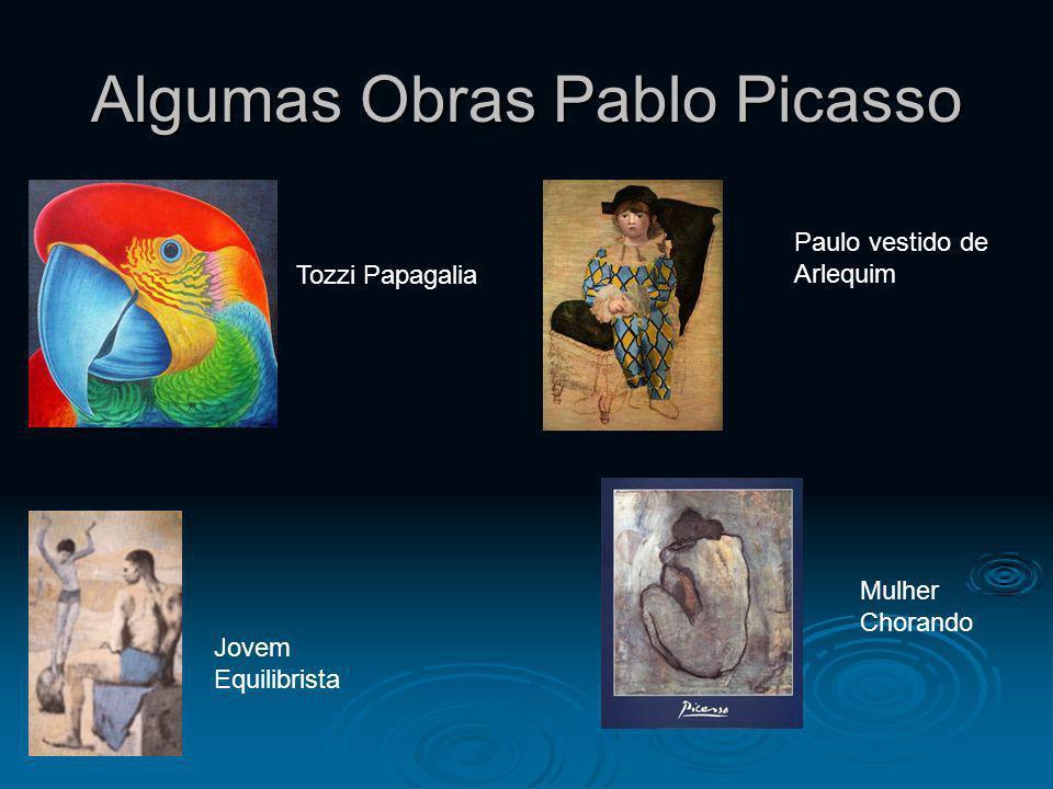 Algumas Obras Pablo Picasso Jovem Equilibrista Tozzi Papagalia Mulher Chorando Paulo vestido de Arlequim