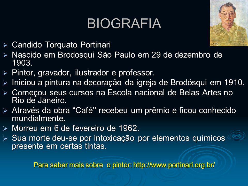 BIOGRAFIA Candido Torquato Portinari Candido Torquato Portinari Nascido em Brodosqui São Paulo em 29 de dezembro de 1903. Nascido em Brodosqui São Pau