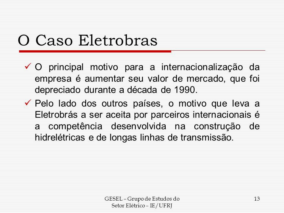 O Caso Eletrobras O principal motivo para a internacionalização da empresa é aumentar seu valor de mercado, que foi depreciado durante a década de 199